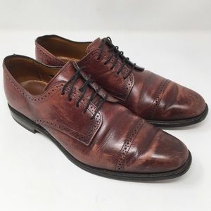ALLEN EDMONDS | Yorktown red brown leather loafer